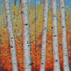 Window View - Radiant Autumn by Joan Metcalf